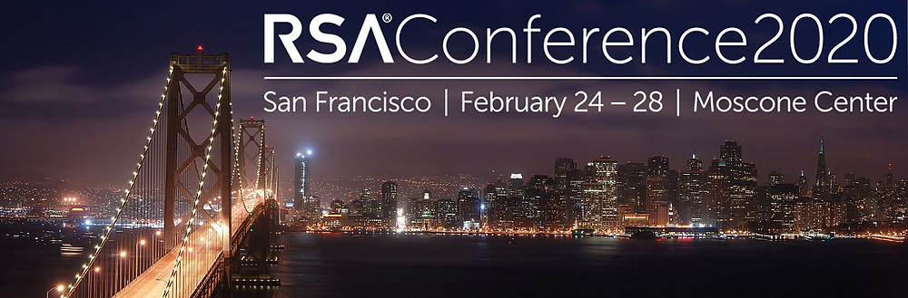 RSA conference in San Francisco. San Francisco's skyline at night