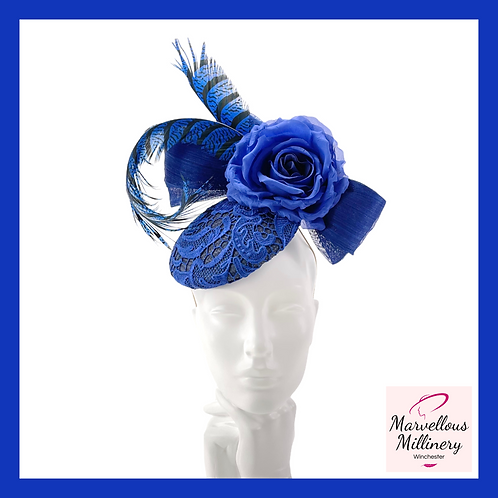 Royal Blue and Navy Cocktail Hat