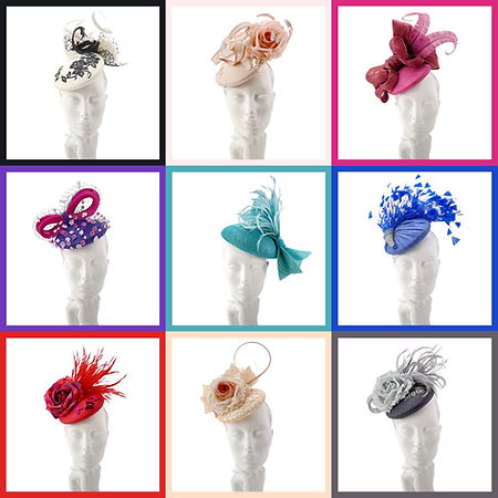 Ready to wear ladies hats available for purchase by visiting online shop on Marvellous Millinery website