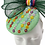 Thumbnail: Green and Colourful Daisies Pillbox Cocktail Hat