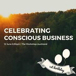 Celebrating conscious business event