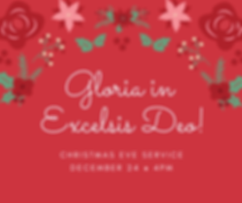 Christmas Eve Service December 24 _ 4PM.