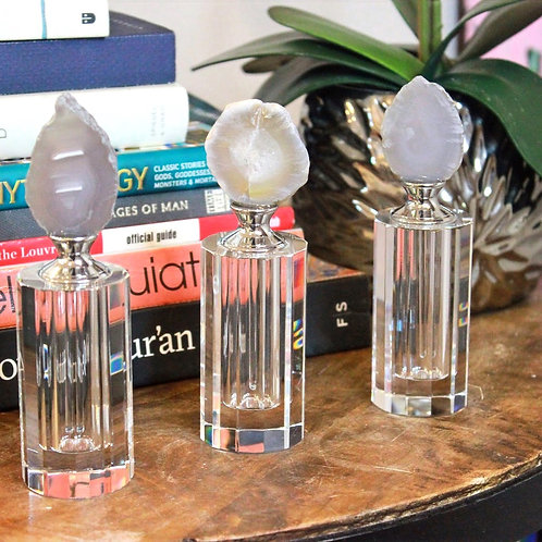 Grey Agate Glass Bottles