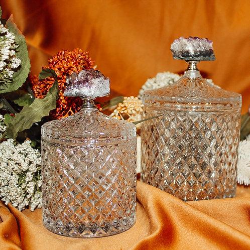 Amethyst Glass Jar Set