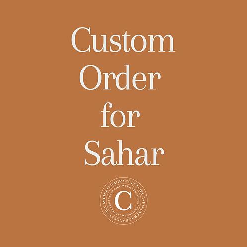Custom order for Sahar