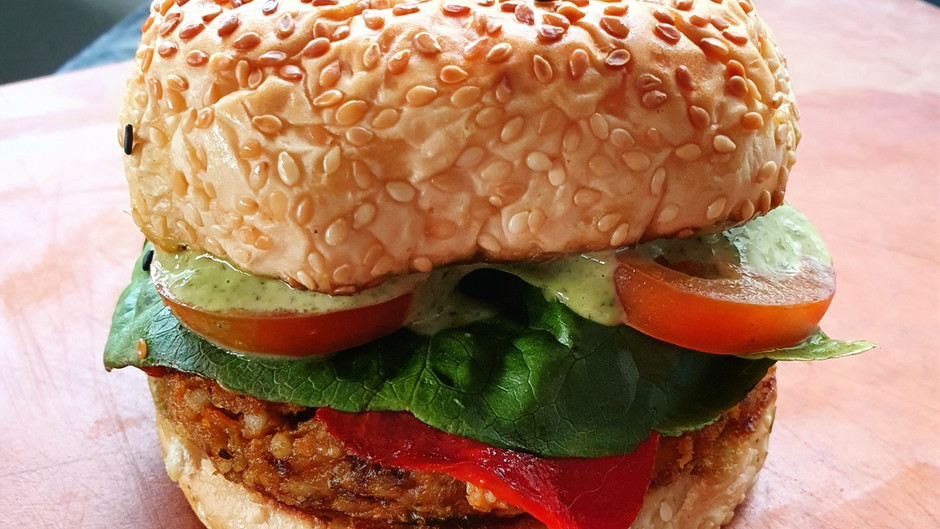 Vegan Adlai & Chickpea Burger Recipe