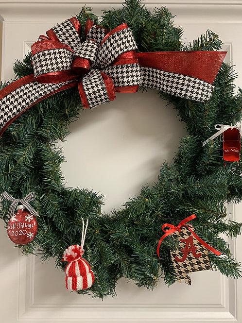 Alabama Holiday Wreath Raffle Ticket