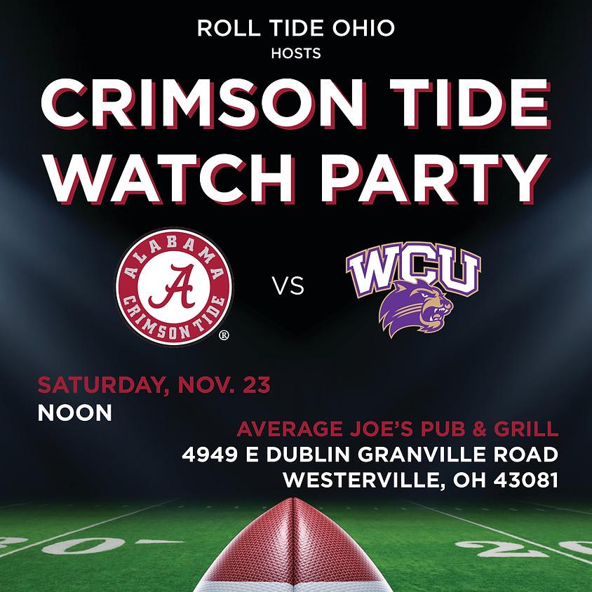 Alabama vs. WCU Watch Party
