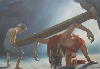 Statie-5-Jezus-krijgt-hulp-van-Simon-van