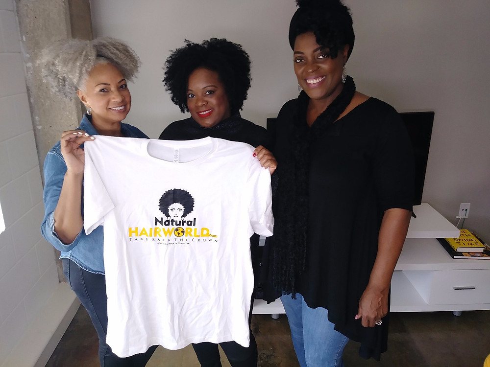 We had the pleasure of visting BellaKinksExpo founder Julian R. Addo and social media star @natutalsilversista as we get ready for the 2017 BellaKinksExpo in Dallas. Julian also debuted her hair care system Adwoa Beauty