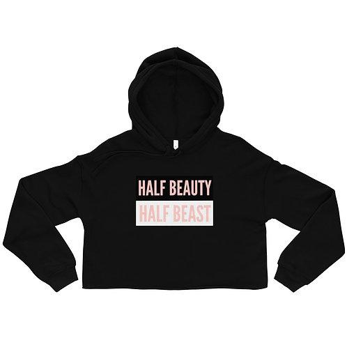 """""""Half Beauty"""" Crop Hoodie"""