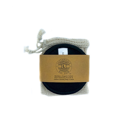 Eco-Lux Bamboo Organic Cotton Facial Rounds (5 Pack)