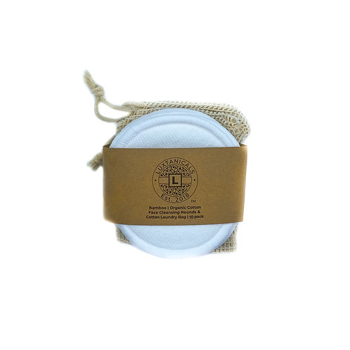 Eco-Lux Bamboo Organic Cotton Facial Rounds (10 Pack)