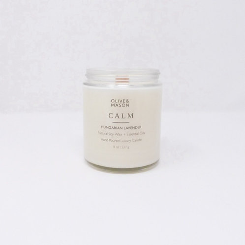 CALM Hungarian Lavender   Natural Soy Candle