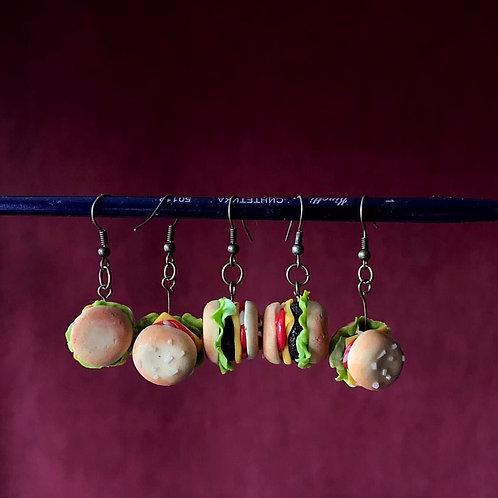 """Cheeseburger earrings/Серьги """"Чизбургер"""""""