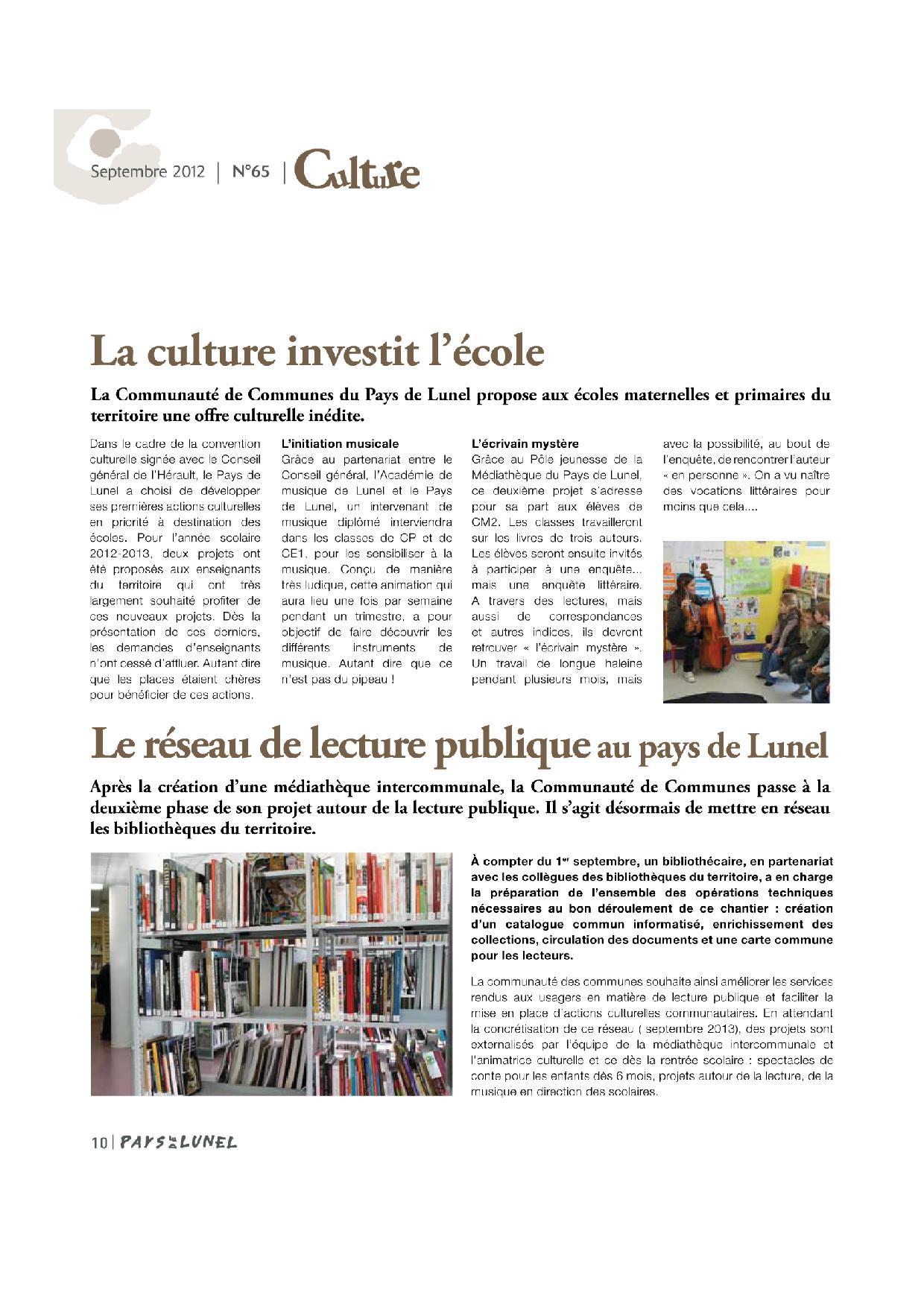 Pays de Lunel le Mag', votre journal intercommunal - CC Pays de Lunel