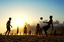 tramonto di calcio