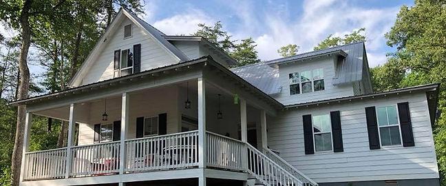 Exterior view of farmhouse
