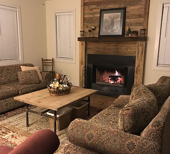 Cozy livingroom with firplace