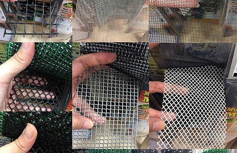 Hard & soft plastic mesh (for windows & gates)