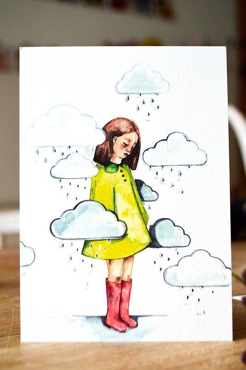 Postkaart  wolken