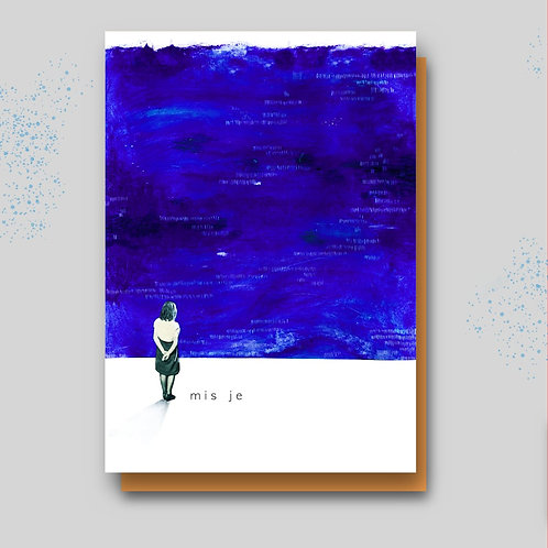 Postkaart mis je