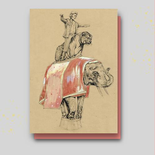 postkaart circus