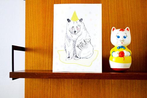 Postkaart mama bear