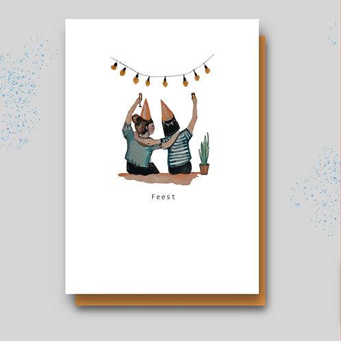 Postkaart feest