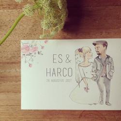 trouwkaartje Es en Harco