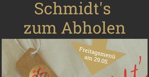Schmidt's zum Abholen - leckeres Menü für Zuhause - 29. Mai 2020