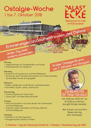 Ostalgie-Woche 1. bis 7. Oktober 2018
