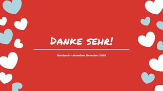 Tolle Bewertungen - Danke sehr! Kochsternstunden Dresden 2019