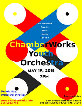 ChamberWorks Youth Orchestra Concert Pos