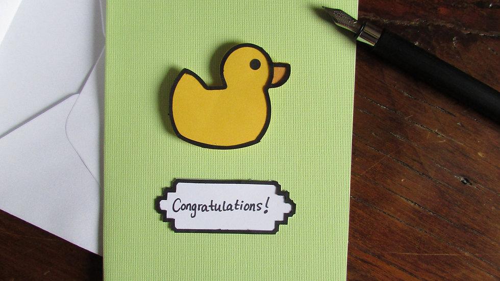 """Ducky """"Congratulations"""" Card"""