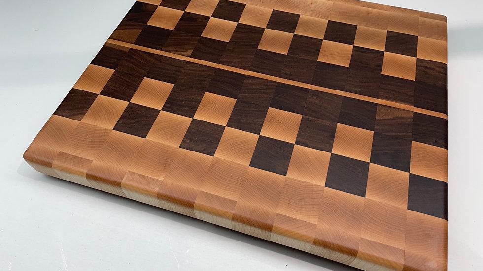 End Grain Maple & Walnut Cutting Board