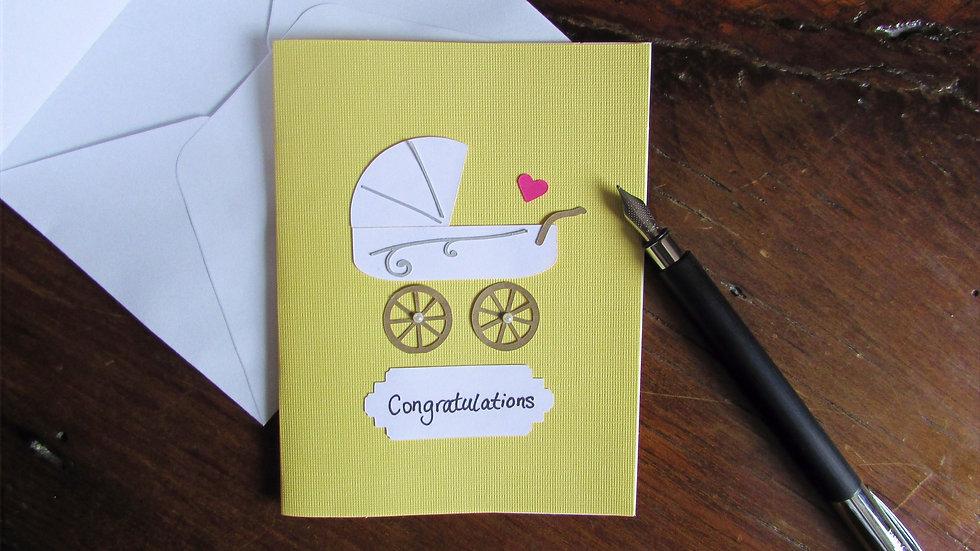 """Pram """"Congratulations"""" Card"""