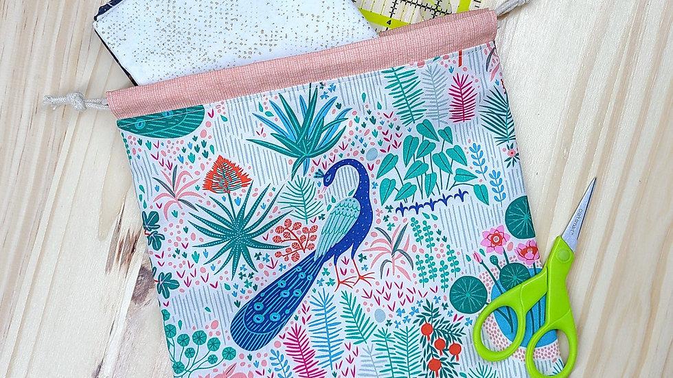 Garden Party Drawstring Project Bag