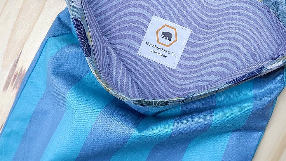 Warp & Weft Striped Project Drawstring Bag