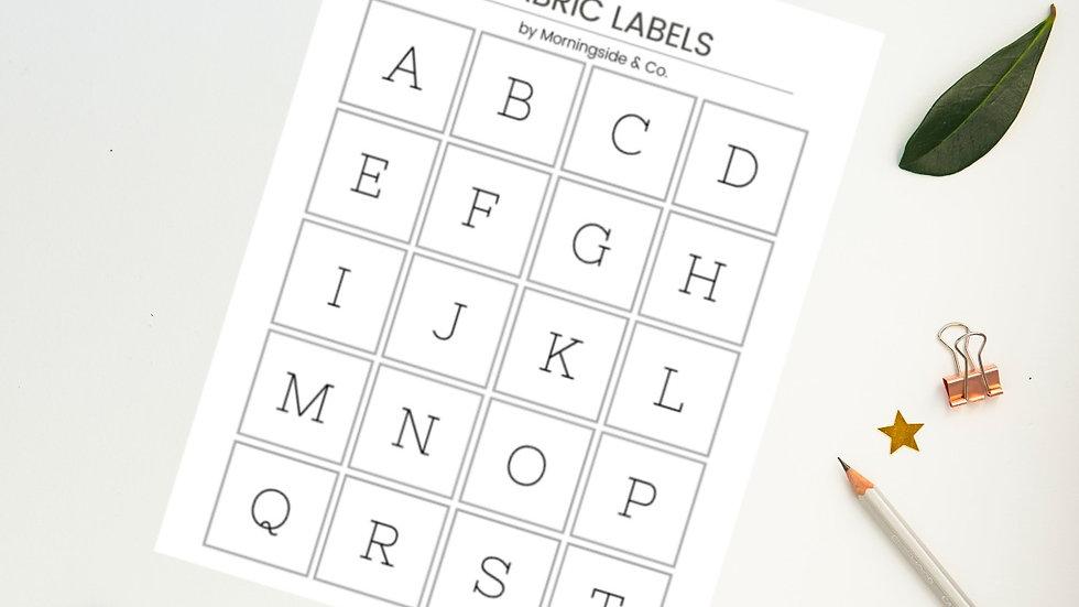 Fabric Labels (PDF)