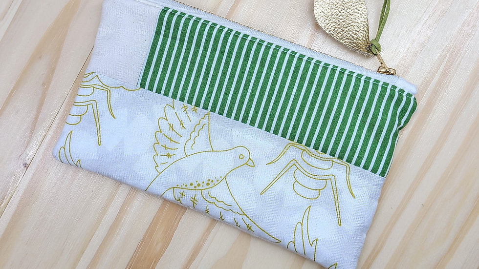 Birds & Bees Quilted Pouch