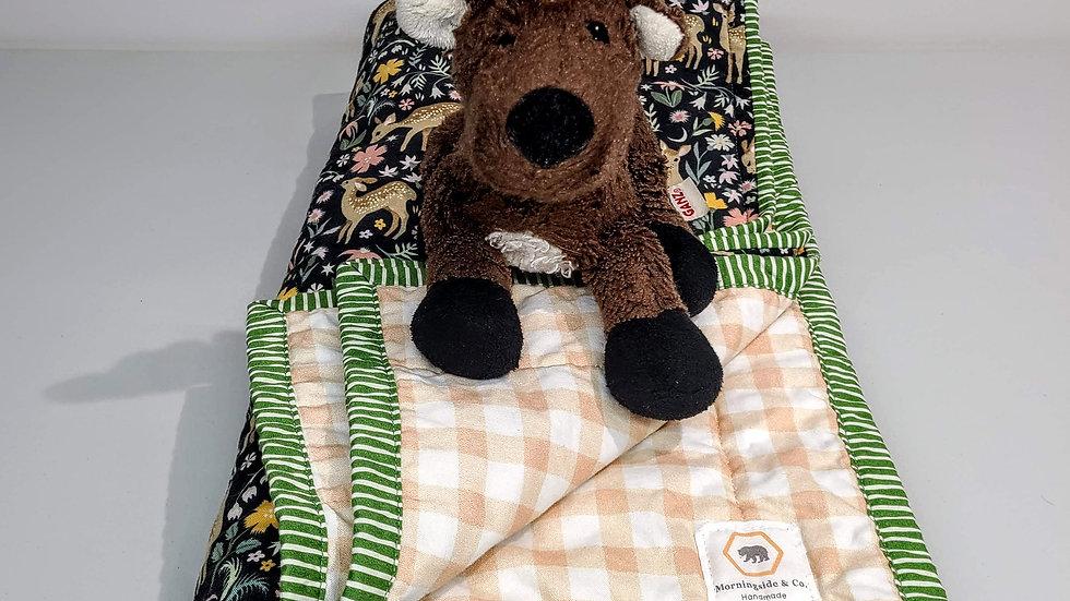 """""""Deer in the Park"""" Baby Quilt"""