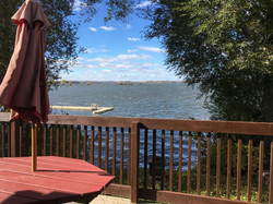 lake front cottage deck and view