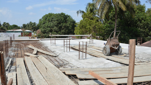 Construction of main building