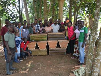 Beekeepers training class