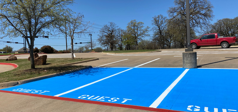 Irving Church Custom Parking Stalls