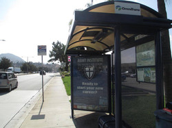 AUMT POSTER ON BUS STOP