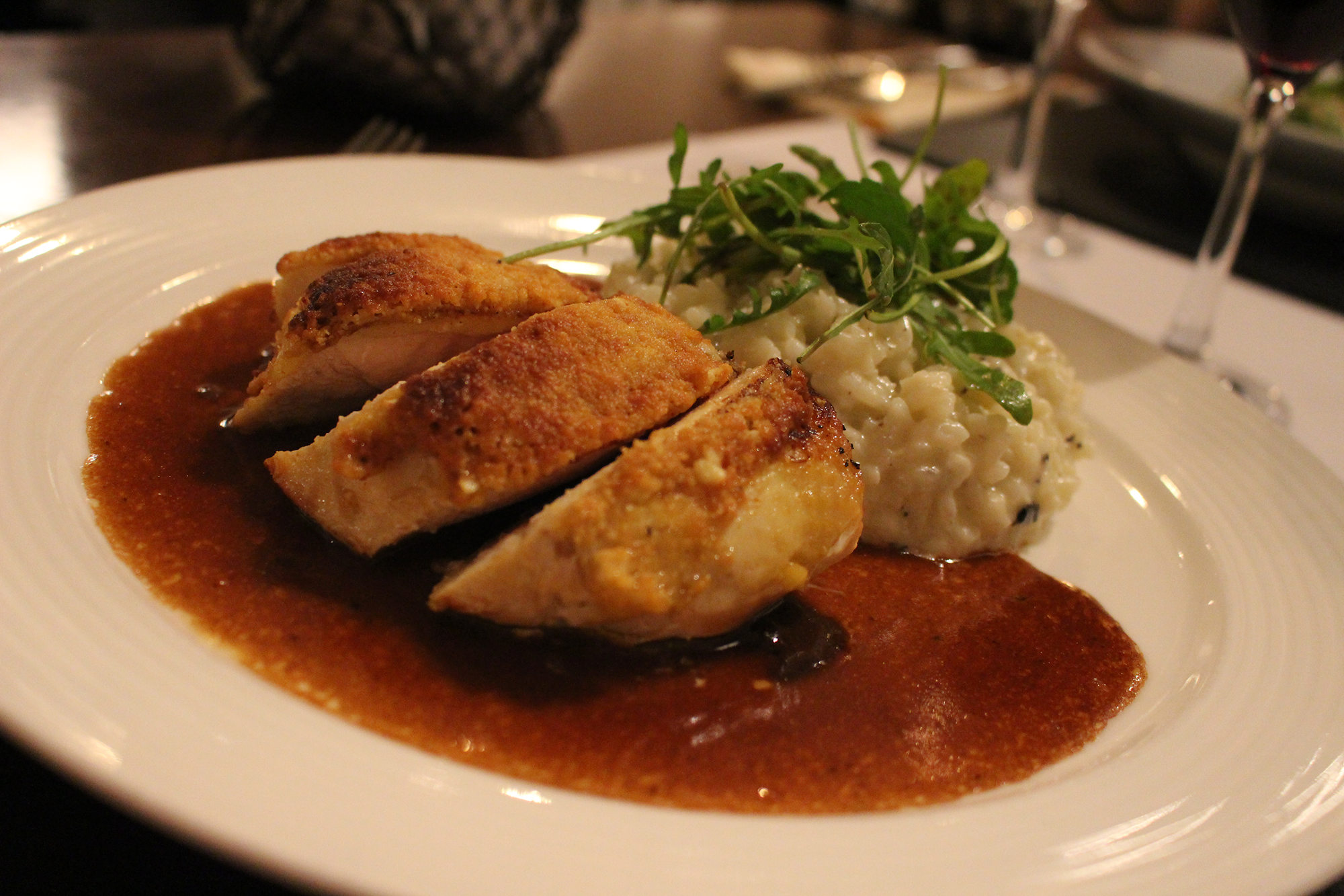 Filet de poulet jaune et risotto