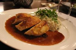 Filet de poulet jaune et risotto