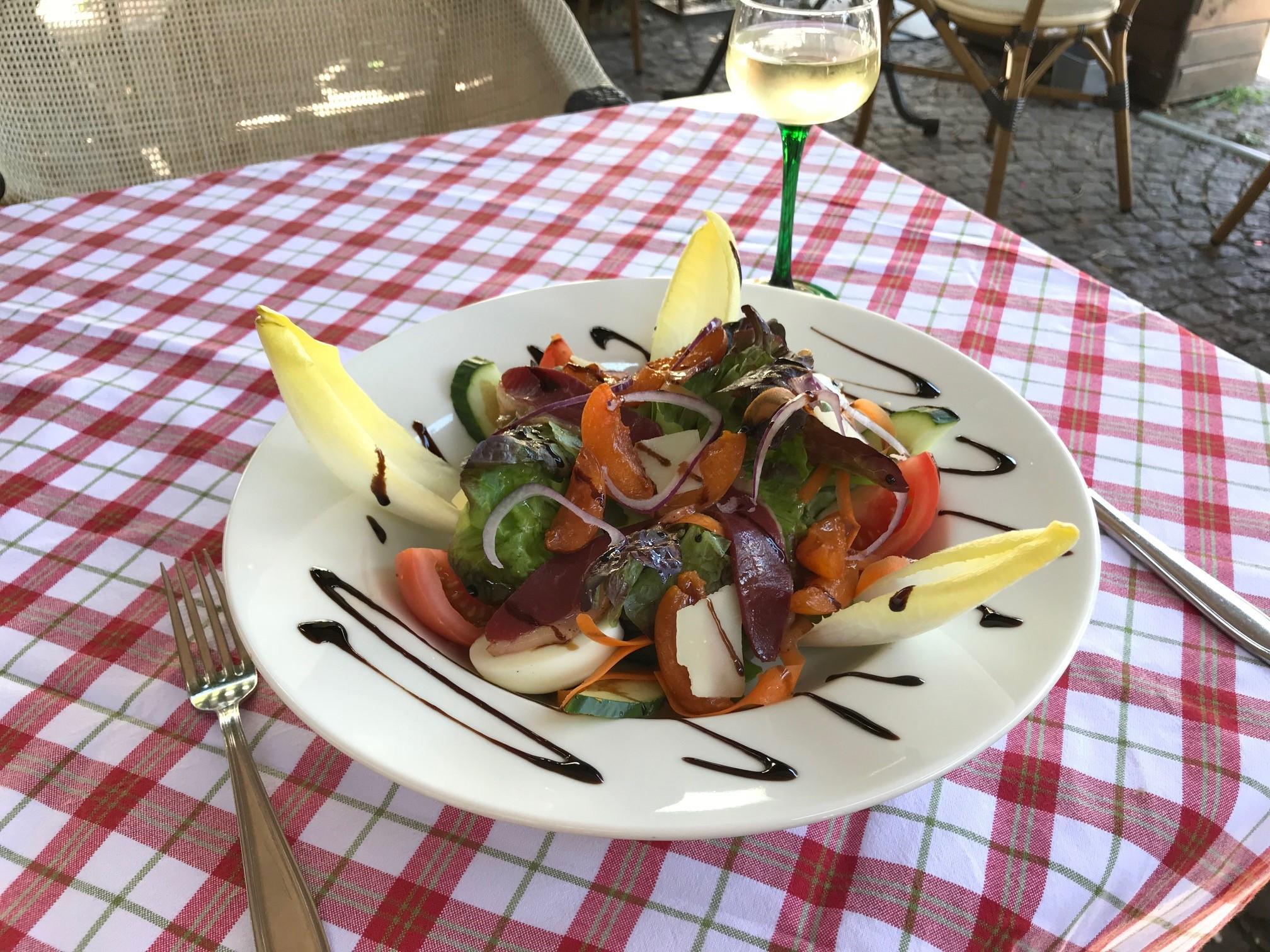Salade de canard aux abricots